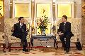 Mr Lam meets with the Executive Vice Governor of Sichuan Province, Mr Wei Hong (right).